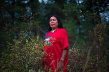 """Our goal is to stop this pipeline,"" says Kanahus Manuel of the Secwepemc Nation in B.C., seen here in Chase, B.C., on Sept. 6, 2017. File photo by The Canadian Press/Greenpeace"