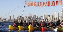 """Kayaktivists"" in Shell's homeport of Seattle are holding a Flotilla on Thursday to confront the drilling fleet. (Photo: Backbone Campaign/cc/flickr)"