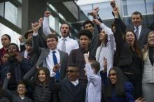 Young plaintiffs celebrate the judge's ruling.Credit: Our Children't Trust