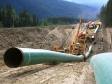A May 2013 handout photo of Kinder Morgan's Anchor Loop Project in Jasper, part of the Trans Mountain pipeline. SUNMEDIA