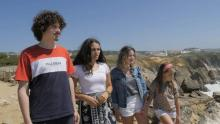 Four of the six Portuguese youths suing 33 European countries over climate change. From left to right: Martim, Catarina, Cláudia, and Mariana, all from the Leiria region of Portugal. Credit: Photo courtesy of Global Legal Action Network/Youth 4 Climate Justice