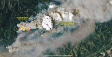 The most extreme wildfires in B.C. are now creating their own weather. Photo by NASA Earth Observatory