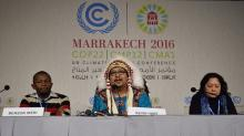 Kevin Hart, who co-chairs the AFN's committee on climate and the environment, speaking at the United Nations climate conference in Marrakech, Morocco. (Source: Assembly of First Nations)