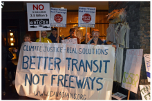 Massey Bridge protest
