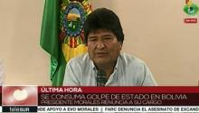 Bolivian President Evo Morales was forced to resign Sunday after two weeks of right-wing violence. | Photo: teleSUR