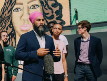 "New Democratic Party Leader Jagmeet Singh is encouraging Canadians to sign a petition that would designate the ""Proud Boys"" group as a terrorist organization.Photo via New Democratic Party"