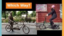Which way NDP 2021 -  Jagmeet Singh and Jack Layton on bikes