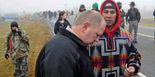 Morton County Sheriff Kyle Kirchmeier at anti-Dakota Access pipeline protests in October 2016 in North Dakota. File photo by the Associated Press.