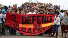 North Dakota protest- Defend the sacred banner - Getty