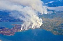 In 2014, megafires in Canada's Northwest Territories scorched more than seven million acres of forest. Photo by Peter Griffith / NASA