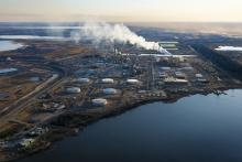 Oil sands mine site