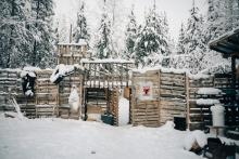 Inside the Gidimt'en Checkpoint on Wet'suwet'en territory in December 2019. The camp was dismantled by Coastal GasLink contractors in early 2019, and then rebuilt and reoccupied. Photo by Michael Toledano