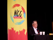 Dale Swampy is the president of the National Coalition of Chiefs, which hosted its Natural Resource Summit on Tsuut'ina First Nation, found in Calgary city limits, on Nov. 4 and 5. (Sarah Lawrynuik)