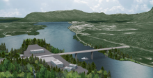 Artist rendering of the Pacific Northwest LNG project.   Photo By Pacific NorthWest LNG