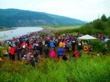 Close to a thousand people from various parts of the province and from all walks of life attended the Paddle for the Peace in Fort St. John on July 11.