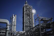 Equipment installed as part of the Petra Nova Carbon Capture Project stands at the NRG Energy Inc. WA Parish generating station in Thompsons, Texas, on Thursday, Feb. 16, 2017. The project has since ceased operations indefinitely. Credit: Luke Sharrett/Bloomberg via Getty Images