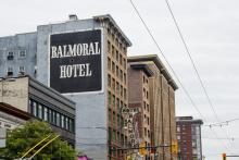 The City of Vancouver now owns the Regent and Balmoral hotels in the Downtown Eastside. Photo by Christopher Cheung.