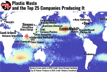 Plastic waste map