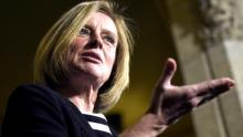 Alberta Premier Rachel Notley is advocating for the expedited building of pipelines like the Kinder Morgan Trans Mountain expansion in B.C. (Justin Tang/Canadian Press)