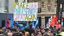 Make our Public Services Great Again - protest sign
