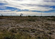 Wells dot the desert atop the Permian Basin in Texas. Credit: ©2016 LauraEvangelisto.