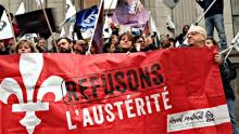 anti-austerity protest Quebec