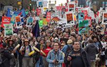 Recent Vancouver rally against Kinder Morgan (Photo: David Suzuki Foundation/Facebook)