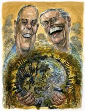 Koch brothers - Illustration by Victor Juhasz