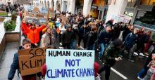 Students demonstrate in Brussels Thursday calling for climate action.NICOLAS MAETERLINCK / AFP / Getty Images