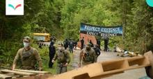 Thursday was another day of confrontation on a remote logging road in southwest Vancouver Island, including the violent arrest of a young Indigenous woman by the RCMP. Police are enforcing a court injunction granted to forestry company Teal-Jones. - Jerome Turner