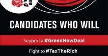 Poster - Democratic Socialists  of Vancouver Endorse BC Election Candidates