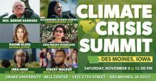 Climate Crisis Summit Iowa Nov. 2019