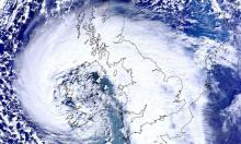 Satellite image of UK and storm
