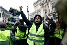 In recent weeks, France has been seized by the gilets jaunes, an amorphous, leaderless protest group that consists, in part, of people like Édouard Louis's family and former neighbors.Photograph by Sameer Al-Doumy / AFP / Getty