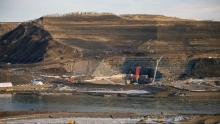 Construction at the Site C dam job site in northern B.C. has continued during the COVID-19 pandemic as it's considered an essential service. (Site C Clean Energy Project)