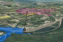 The location of the Site C dam in proximity to Fort St. John and Taylor