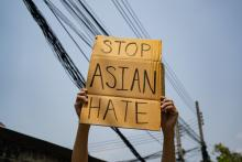 Asian Hate - sign -U.S. media outlet Bloomberg has used crime data to determine Vancouver, Canada is the 'Anti-Asian Hate Crime Capital of North America.'Photo via Wachiwit / Getty Images