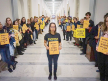 Sunrise Movement in the Halls of Congress Photo | Sunrise Movement