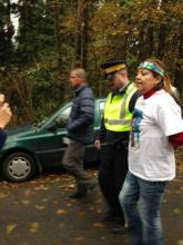 Sut-lut, a a Sḵwx̱ú7mesh elder who started the sacred fire onsite and contributed a wooden carving to the camp site, has been arrested.