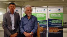 Hassan Yussuff and David Suzuki. Photo by Valentina Ruiz Leotaud.