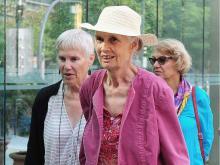 Jean Swanson arrives at B.C. Supreme Court for sentencing after her June 30 arrest at the Kinder Morgan in Burnaby.NICK PROCAYLO/PNG
