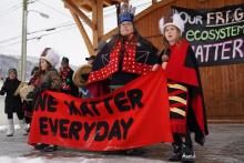 Understanding the period of transition and of nation building or rebuilding is key to making sense of the conflict regarding Coastal GasLink's pipeline and who speaks for the Wet'suwet'en people – A rally for the Wet'suwet'en Nation in Smithers, B.C. seen here on Jan. 10, 2020 – in approving or not approving developments through their territory.  JIMMY JEONG/THE GLOBE AND MAIL