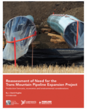 report cover  - Reassessment of Need for the Trans Mountain Pipeline Expansion Project