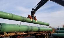Pipes for TMX - Photograph By TRANS MOUNTAIN