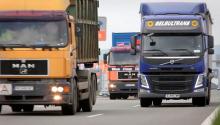 Trucks en route