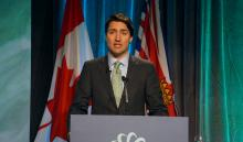 Prime Minister Justin Trudeau opens the Globe Series 2016 in Vancouver, B.C. with a commitment to getting Canada's resources to market on Wed. March 2, 2016. Photo by Elizabeth McSheffrey.