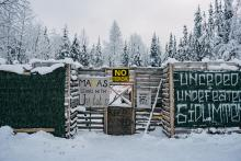 The Gidimt'en camp is located south of Smithers in northern British Columbia. Photo by Michael Toledano.