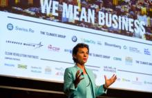 Christiana Figueres, former Executive Secretary of the UN Framework Convention on Climate Change, at the launch of 'We Mean Business' at the NYC Climate Week in 2014.