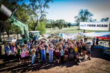 Protesters at the Maules Creek site in December. Pic: Supplied.