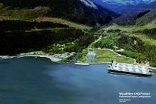 Rendering of the proposed Woodfibre LNG project | Submitted